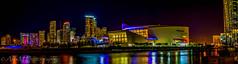 Miami Pano (The Happy Traveller) Tags: miamiskyline miami nightscenery night nightphotography nightshot nightscape cityscapes