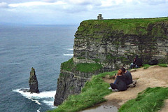 Snappin' the View (jameskirchner15) Tags: limestone lowercarboniferous ireland countyclare seastack cliff ocean sea water cliffsofmoher scene landscape landform
