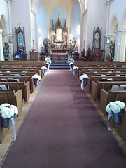Saint George Catholic Church, Hermann, MO (shawnmkell) Tags: gothic church interior altar diocese traditional german parish