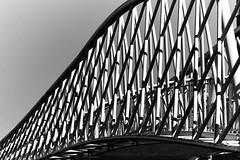 Fietsbrug Schonauwen 2 (MartinGJ56) Tags: brug fietsbrug landschap lucht weer wolken zwartwitblackwhite houten utrecht nederland bridge