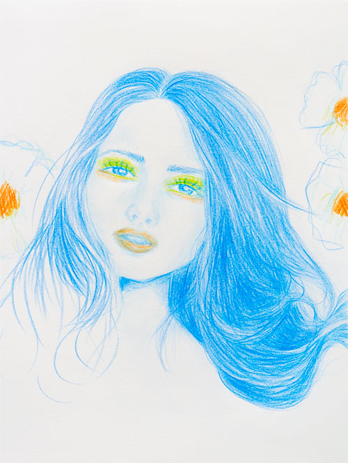 Colored pencil sketch
