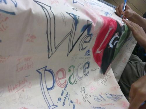 """Banner """"Love for Libya"""""""