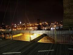 the ride home (ROSKO.CC) Tags: newyorkcity bridge bike bicycle brooklyn night seth track steel welding fixed bklyn custom rosko bespoke framebuilding tig redhookcrit sethrosko roskocc