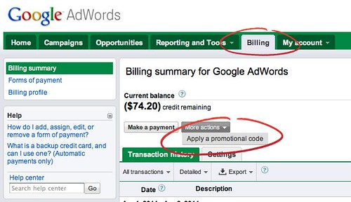 How To Redeem a $75 Google AdWords Code When You Already Have an Account