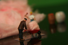 Cotton Candy (Explored) (katerha) Tags: sticky explore cottoncandy tinypeople stickystuff macromondays