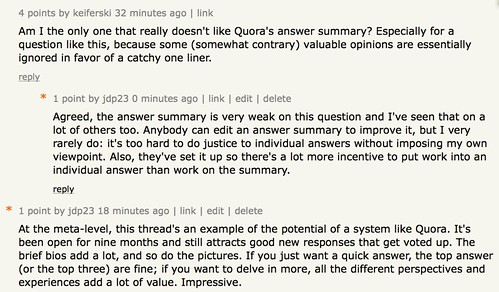 keiferski: Am I the only one that really doesn't like Quora's answer summary?