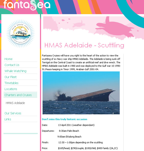 FantaSea Cruisers ex-HMAS Adelaide