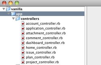 רשימת Controller בפרויקט