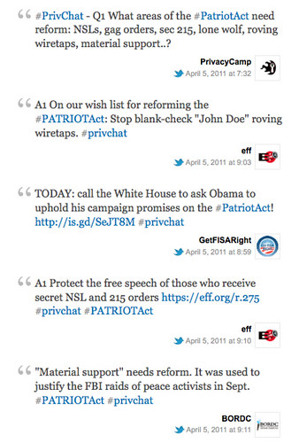 patriot act at privchat