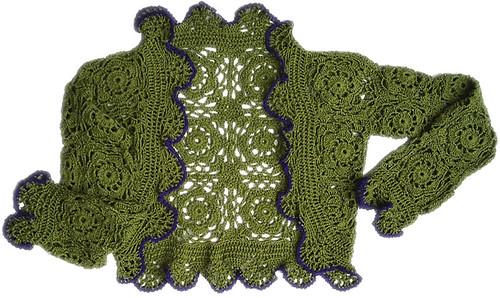 Bolero Meia Estação Verde by Scheila Veiga Crochet