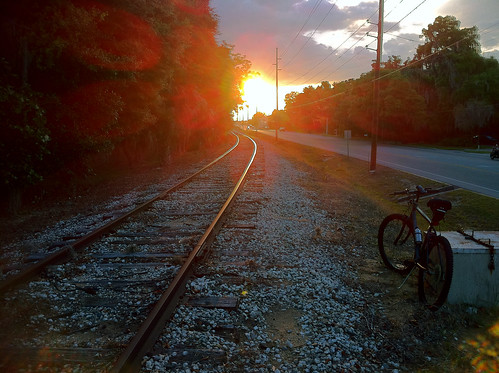 BONELUST - Along the Tracks: Sunset & Bike