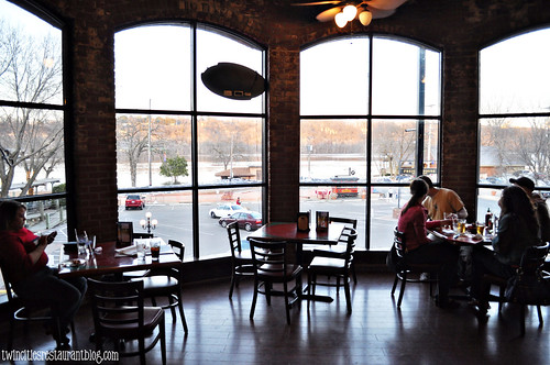 View of St Croix River inside Rafter's Food & Spirits ~ Stillwater, MN