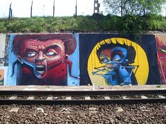 alln2gthr (Fat Heat .hu) Tags: wall graffiti paint spraycanart rollup trainline cfs coloredeffects fatheat