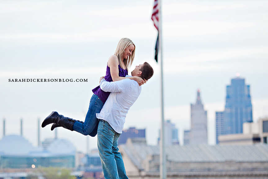 LIberty Memorial engagement photos Kansas City