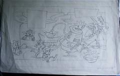 JETSONS CAST Original Layout Drawing BOB SINGER Signed (Nemo Academy) Tags: original hanna drawing barbera