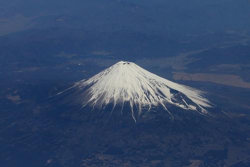 飛行機からの富士山 fuji ClubMed Kabira Press Tour