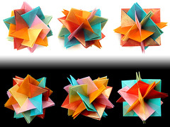 5 Intersecting Squares (Aneta_a) Tags: square origami planar modularorigami simplepaper