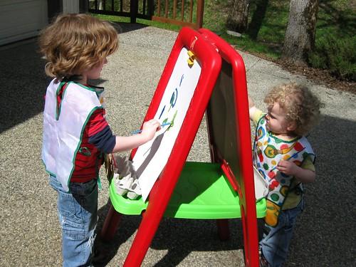 Zander and Izzy Painting