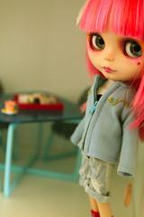 Miss Pembe Tagged by Katie (*chacha*) Tags: blythe pembe happibugcustom taggedbykatiemoonrougerose