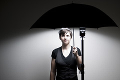 Day 1541 (evaxebra) Tags: rain umbrella studio grey cowboy eva flash gray 365 vest ewa lightstand xebra 365days strobist evaxebra