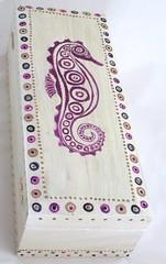 PICT2246 (nimanoma) Tags: flower colour art nature beautiful print paint acrylic pattern seahorse starfish dragonfly box painted handpainted passion swirl dots urchin biology lino beaded seaurchin wallhanging linoprint woo