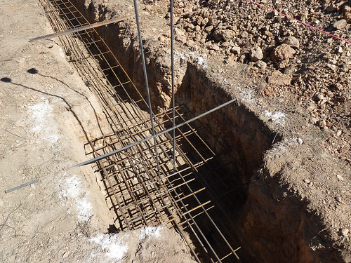 trench work and laying steel - 12