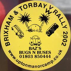 Sticker (chrisinplymouth) Tags: squircle circle round sticker vw camper rally brixham torbay cw69x squaredcircle circular