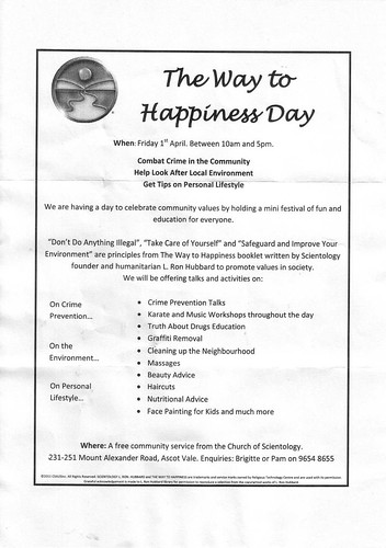 """The Way to Happiness Day"" presented by the Church of Scientology"