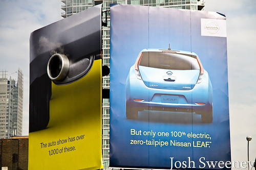 2011 NY Auto Show - Nissan Leaf Advertisement