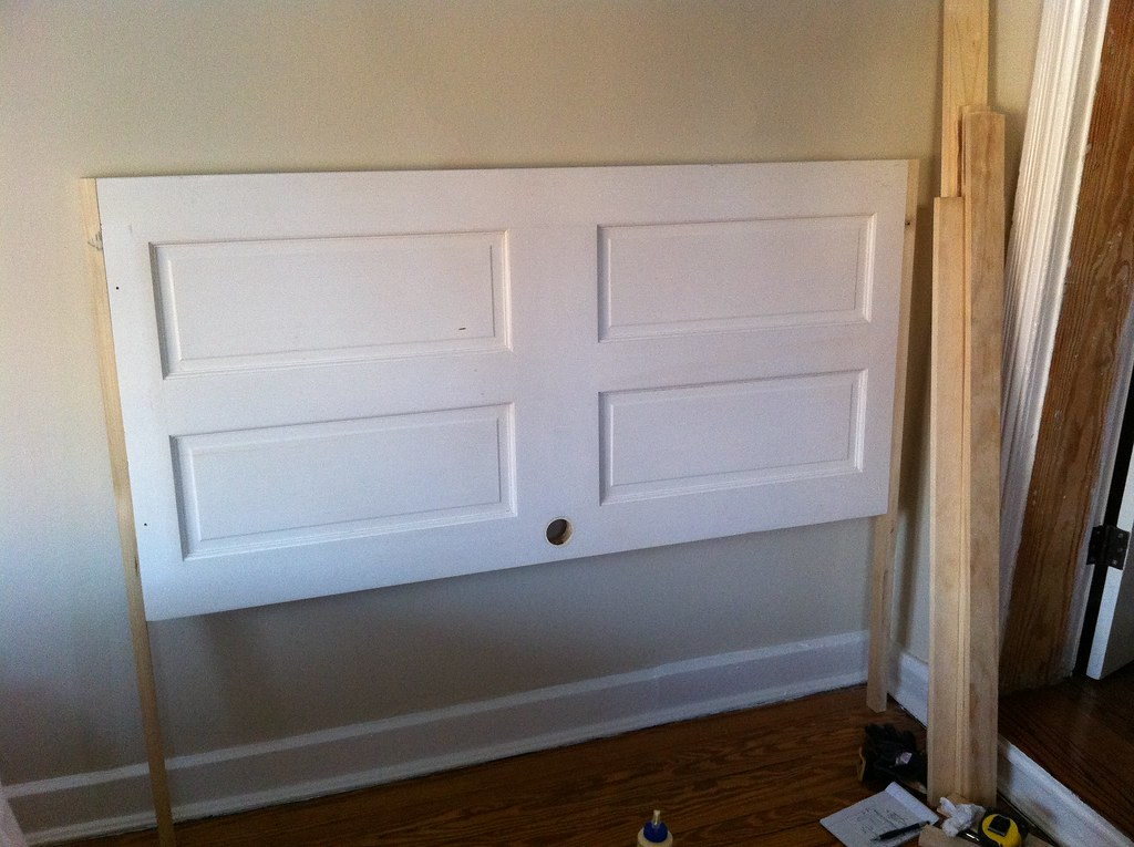 Make A Headboard opportunity knocks: transforming an old door into a headboard
