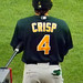 Coco Crisp with some cool hair