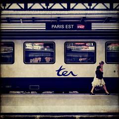 paris est (fotobananas) Tags: paris texture station train pen platform railway olympus garedelest sncf ep1 ter skeletalmess fotobananas