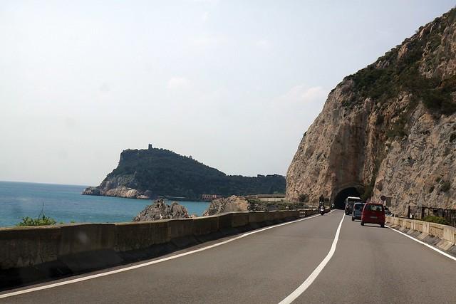 Along Ligurian coast.