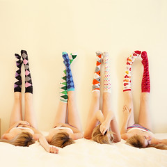 Day 165: Socks are fun! (Gods Emerald - With Love Photography) Tags: girl socks clone kneehigh
