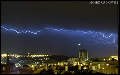 - annother lightning above jerusalem (moshek70) Tags: sky weather clouds israel jerusalem lightning   cumulonimbus