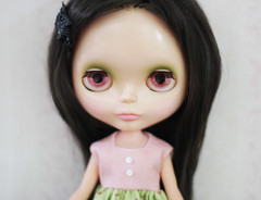 Riley (prettyinthekitchen) Tags: doll kenner blythe brunette bangs 1972 wispy