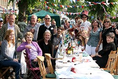 Cambridge Street Party for Royal Wedding 29/04/11 (Јason) Tags: pictures street old city uk blue cambridge red party england people food white news english window cake canon newspaper community tea photos britain kate flag baloon union young duke prince patriotic fairy will pro banquet dslr unionjack bun streetparty duchess royalwedding middleton roadclosure lnp pincess proffessional jasonpatel hrhprincewilliam wwwjasonpatelcouk londonnewspictures 290411 29042011