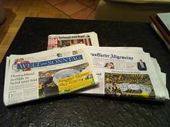 Welt am Sonntag, Bild am Sonntag, Frankfurter Allgemeine Sonntagszeitung (1. Mai 2011)