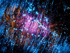 Star Birth (orbiter_one) Tags: colors stars long exposure space cluster galaxy nebula outer fiber universe fiberoptics deepspace optic