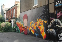 Graffitti off of Princes Avenue in Hull