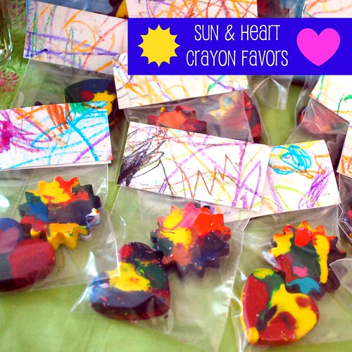 Crayon Birthday Favors