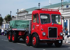 1955 Bristol HG6L flatbed lorry. Brighton 01/05/11. (Ledlon89) Tags: london brighton hcvs vintagelorry susssex britishroadservices britishlorries alltypesoftransport bristolmotors