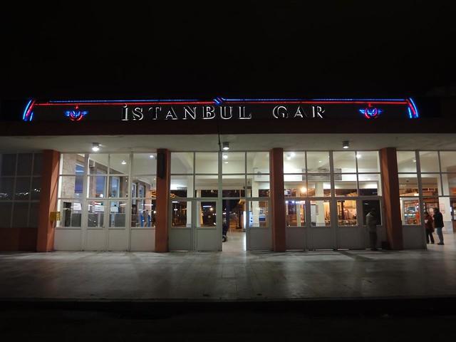 Estação de comboios de Istambul na Turquia