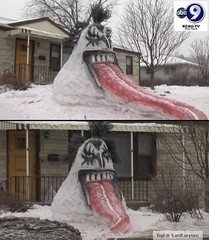 KISS Snowman from ABC (sanitaryum) Tags: hilarious funny lol humor rofl cleanhumor