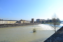 DSC_0485 (5) (pjpink) Tags: italy reflection water river florence spring tuscany firenze arno 2011 pjpink