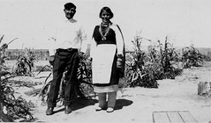 Newlyweds in corn field, 1920?  1940? (Marquette University Archives) Tags: new food portraits mexico native indian families pueblo american zuni