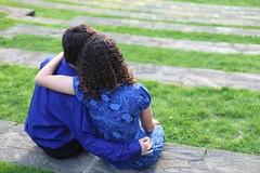 Rachel and Ernesto (kat.clark) Tags: boy sunset sunlight love college girl grass kat couple pennsylvania naturallight pa clark amphitheater brunette swarthmore swarthmorecollege katclark