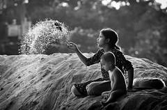 Escape, memories [..Narayanganj, Bangladesh..] (Catch the dream) Tags: bw home girl monochrome look children blackwhite glow time memories soil sands rim colorless bangladesh bnw scattered afternoonlight ringlight rimlight q2 narayanganj catchthedream mohammadmoniruzzaman gettyimagesbangladeshq2 gettyimagesbangladesh