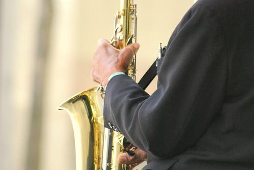Saxophonist - Hands - Side