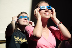 Looking at the sun through special glasses (k.dmitrijewa) Tags: sun digital canon glasses funny russia observatory planetarium russie volgograd russland wolgograd 40d canon40d pennyjey